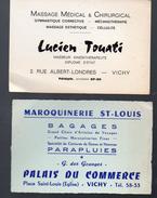 Vichy (03 Allier) 2 Cartes Commerciales :  TOUATI (masseur) Et Saint Louis (maroquinerie) (PPP5266) - Advertising