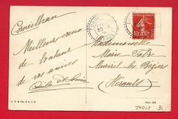 Facteur Boitier - Corneilhan (Herault) Sur Type Semeuse  - 1909 - Marcophilie (Lettres)