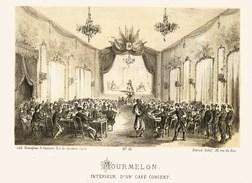 Litho   MOURMELON CAFE CONCERT    - SIEGE De PARIS  1871 - Col.Garde Nationale Mobile De La Seine 7éme Bat.- Militaria - Sonstige