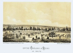 Litho ENTRE CHALONS Et REIMS    - SIEGE De PARIS  1871 - Col.Garde Nationale Mobile De La Seine 7éme Bat.- Militaria - Libros, Revistas & Catálogos