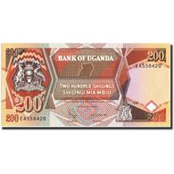 Uganda, 200 Shillings, 1996, KM:32b, 1996, NEUF - Uganda