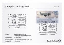 Germany Stempelsammlung 2009 Dessau - Roslau Hugo Junkers   (T19-14) - Storia Postale