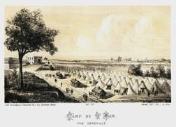 Litho  CAMP De St MAUR  - SIEGE De PARIS  1871 - Col.Garde Nationale Mobile De La Seine 7éme Bat.- Militaria - Sonstige