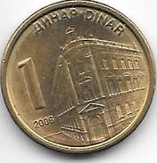 *serbia 1 Dinar  2006  Km 39   Unc - Serbie