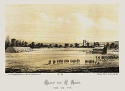 Litho  CAMP De St MAUR 2  - SIEGE De PARIS  1871 - Col.Garde Nationale Mobile De La Seine 7éme Bat.- Militaria - Sonstige