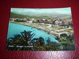 Cartolina Sestri - Spiaggia A Ponente 1957 - Genova