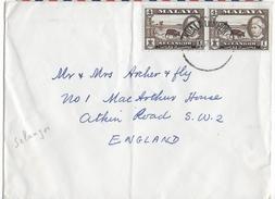 SELANGOR - 1957 - ENVELOPPE De KUALA LUMPUR => ATKIN ROAD (GB) - Selangor