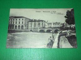 Cartolina Treviso - Monumento A Dante 1920 Ca - Treviso