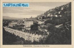 Lazio-roma-palestrina Veduta Panorama Citta'di Palestrina Da Villa Elvisa (f.picc. B/n) - Italia