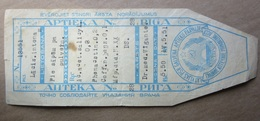 1951  RUSSIA-   Latvia      APOTHEKE - PHARMACY Medicine - Drug Bottle LABEL - Vecchi Documenti