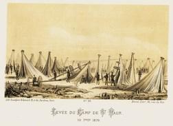 Litho  SAINT MAUR LEVEE Du CAMP    -  SIEGE De PARIS  1871 - Col.Garde Nationale Mobile De La Seine 7éme Bat.- Militaria - Sonstige