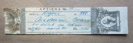 1950  RUSSIA-   Latvia      APOTHEKE - PHARMACY Medicine - Drug Bottle LABEL - Vieux Papiers