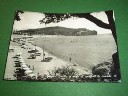 Cartolina Gaeta - Barche E Scorcio Di Spiaggia 1957 - Latina