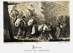 Litho PANTIN  Les Maraudeurs - SIEGE De PARIS  1870 - Col.Garde Nationale Mobile De La Seine 7éme Bat.- Militaria - Libri, Riviste & Cataloghi