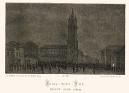 Litho  ROSNY Sous BOIS , AVRON ......SIEGE De PARIS  1871 - Col.Garde Nationale Mobile De La Seine 7éme Bat.- Militaria - Altri