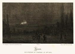 Litho  AVRON  OCCUPATION Du PLATEAU - SIEGE De PARIS  1870 - Col.Garde Nationale Mobile De La Seine 7éme Bat.- Militaria - Sonstige