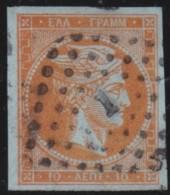 Greece    .    Yvert   .   20    .     1863-68       .   O    .   Gebruikt   .   /     .   Cancelled - 1861-86 Hermes, Groot