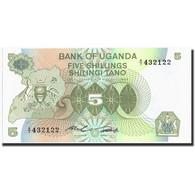 Uganda, 5 Shillings, Undated (1992), Undated (1992), KM:15, SPL - Uganda