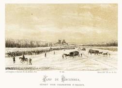 Litho  CAMP De VINCENNES DEPART.......SIEGE De PARIS  1871 - Col.Garde Nationale Mobile De La Seine 7éme Bat.- Militaria - Sonstige