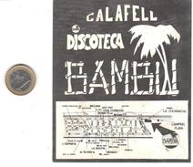 ETIQUETA   -DISCOTECA BANBU  - CALAFELL - Publicidad