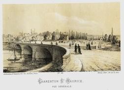 Litho      CHARENTON St MAURICE   -  SIEGE De PARIS  1871 - Col.Garde Nationale Mobile De La Seine 7éme Bat.- Militaria - Altri