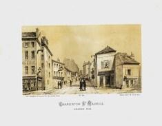 Litho    CHARENTON St MAURICE 3  -  SIEGE De PARIS  1871 - Col.Garde Nationale Mobile De La Seine 7éme Bat.- Militaria - Sonstige