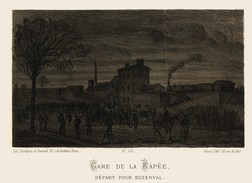 Litho  GARE De La RAPEE   SIEGE De PARIS  1870 - Col.Garde Nationale Mobile De La Seine 7éme Bat.- Militaria - Livres, Revues & Catalogues