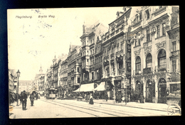 Magdeburg Breite Weg / Postcard Circulated, 2 Scans - Magdeburg