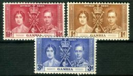 GAMBIE  ( POSTE ) : Y&T N°  119/121  TIMBRES  NEUFS  AVEC  TRACE  DE  CHARNIERE , A  VOIR  . - Gambie (...-1964)