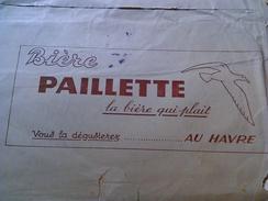 PAILLETTE LA BIÈRE QUI PLAIT. VOUS LA DÉGUSTEREZ AU HAVRE. NORMANDIE (1956). ENVELOPPE PUBLICITÉ. - Marcophilie (Lettres)