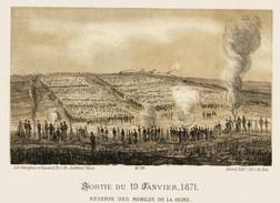 Litho    SORTIE Du 19 Janvier 1871    SIEGE De PARIS  1871 - Col.Garde Nationale Mobile De La Seine 7éme Bat.- Militaria - Livres, Revues & Catalogues