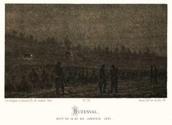 Litho  BUZENVAL   20 JANVIER 1871   SIEGE De PARIS  1870 - Col.Garde Nationale Mobile De La Seine 7éme Bat.- Militaria - Altri