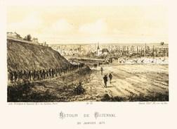Litho  BUZENVAL...LE  RETOUR........SIEGE De PARIS  1871 - Col.Garde Nationale Mobile De La Seine 7éme Bat.- Militaria - Sonstige