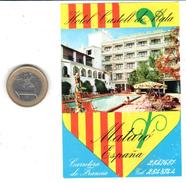 ETIQUETA DE HOTEL  - HOTEL CASTELL DE MATA  -MATARO - Hotel Labels