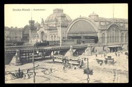 Dresden-Altstadt Hauptbahnhof / Image Of Tramway / Postcard Not Circulated, 2 Scans - Dresden