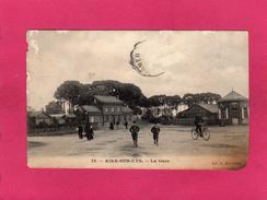 62 PAS DE CALAIS, Rare, AIRE-SUR-LYS, La Gare, Animée, 1907, (Bonvoisin) - Aire Sur La Lys