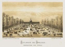 Litho  ESPLANADE DES INVALIDES    SIEGE De PARIS  1870 - Col.Garde Nationale Mobile De La Seine 7éme Bat.- Militaria - Altri