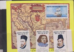 E) 1979 MEXICO,  MAP OF NEW SPAIN, IDENTIFICATION CARD, SHIP, MARTIN ENRIQUE DE ALMANZA, MARTIN DE OLIVARES, FELIPE II, - Mexico