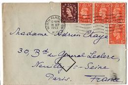 LGB 182 - GRANDE-BRETAGNE Lettre De North Kensington Pour Neuilly Avec Cachet Losange 1953 - 1902-1951 (Kings)