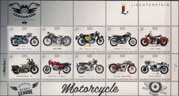 "2016 Liechtenstein "" DieMarke.li "" Nr. 6 ""Lengendäre Motorräder - Blocks & Sheetlets & Panes"