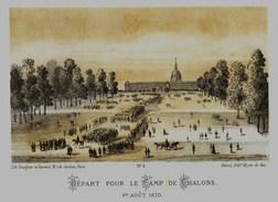 Litho DEPART POUR LE CAMP DE CHALONS - GUERRE De 1870 1871 - Col.Garde Nationale Mobile De La Seine 7éme Bat.- Militaria - Libros, Revistas & Catálogos