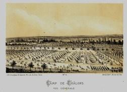 Litho - CAMP DE CHALONS VUE GENERALE - GUERRE De 1870 1871 - Col.Garde Nationale Mobile De La Seine 7éme Bat.- Militaria - Sonstige