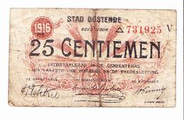 Bon De 25c ????? 1916 - [ 3] German Occupation Of Belgium