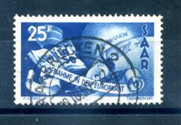 1950 SARRE N.277 USATO - 1947-56 Occupazione Alleata