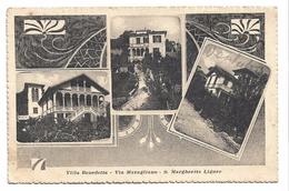 Old Postcard, Italy, Villa Benedetta - Via Maragliano - S. Margherita Ligure. - Roma