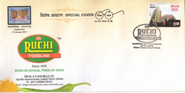 India 2017  Ruchi Foodline   Edible Oils  CUTTACK  Special Cover  # 76668  Inde Indien - Food