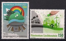 2016 Liechtenstein Mi. 1790-91 **MNH  Europa: Umweltbewusst Leben. - Liechtenstein