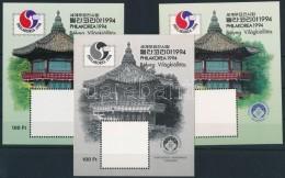 ** 1994/1 Philakorea '94 Hologram Nélküli 3 Db-os Emlékív Garnitúra... - Stamps
