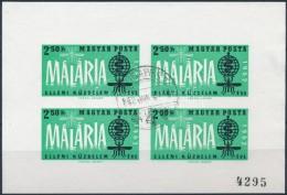 O 1962 A Malária Elleni Küzdelem éve Vágott Számozott Kisív ElsÅ'napi... - Stamps