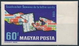 ** 1959 LevelezÅ' Hét (II.) ívszéli Vágott Bélyeg (2.500) - Stamps